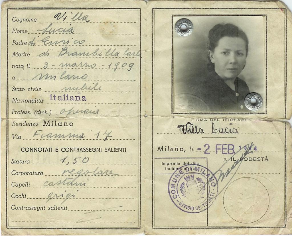 Carta identità Milano