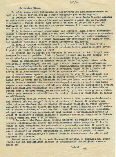8/8/1944: lettera di GI