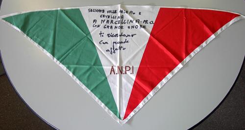 Foulard ricordo dei partigiani della Val Caleppo e Cavallina