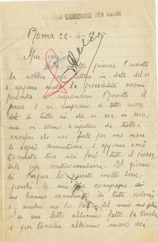22/4/1935 - carcere di Roma