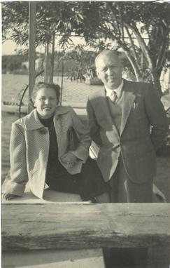 Marcellina e il marito Giuseppe Chiesa