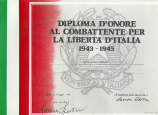 Diploma d'onore al combattente