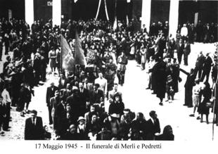Funerali di Abele Merli ed Enrico Pedretti
