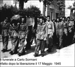 Funerale del partigiano Carlo Sormani