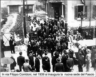 In via Corridoni, nel 1939, si inaugura la nuova sede del fascio